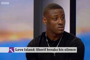 explosive moment sherif lanre slams 'racist' love island and claims girls groped him