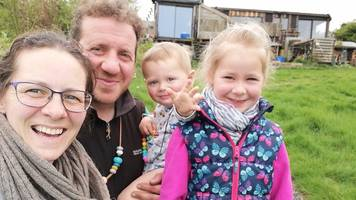 the family of four living off grid