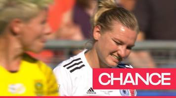 'what a miss!' - alexandra popp misses a golden opportunity for germany against south africa