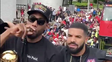 kawhi's 'board man' shirt, drake being drake and highlights from raptors parade