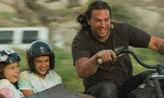 jason momoa builds a harley-davidson from scratch, with and for his kids