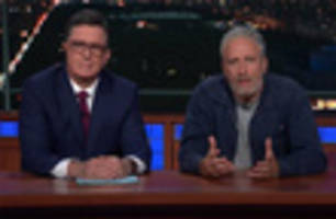 Jon Stewart Appears On 'Late Show' To Rip Mitch McConnell Again