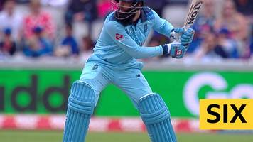 Cricket World Cup: Two quick-fire sixes from Moeen Ali give England the record for most sixes in an ODI innings