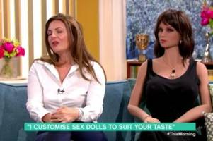 this morning viewers horrified after sex doll replica that can be made to look like your ex