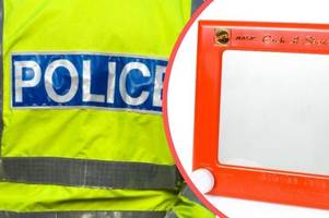 Woman cleared of assaulting police officer by throwing Etch-a-Sketch at him