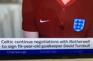 sky sports claim 'goalkeeper' david turnbull nears celtic move in latest scottish football blooper