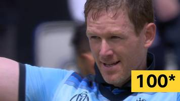 Cricket World Cup: Eoin Morgan reaches an extraordinary century with three sixes in an over