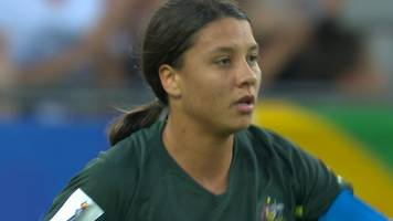Women's World Cup 2019: Sam Kerr heads in Australia's opener against Jamaica