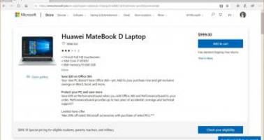 Microsoft Starts Selling Huawei Laptops Once Again