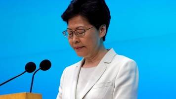 Hong Kong protests: Carrie Lam sorry for extradition controversy
