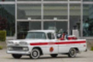 honda restored a 1961 chevrolet apache pickup to commemorate its humble beginnings