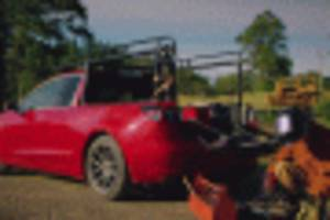 meet the woman who turned a tesla model 3 into a pickup truck