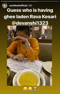 Smriti Irani drools on South Indian delicacies, shares photos on Instagram!