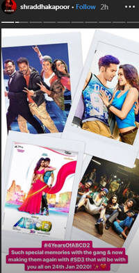 shraddha kapoor is back with dance-drama street dancer after four years of abcd 2