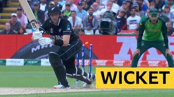 cricket world cup: martin guptill out hit wicket v south africa