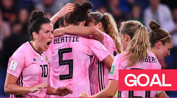 women's world cup 2019: beattie heads in weir's superb cross to put scotland into a 2-0 lead