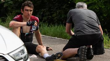 i thought the tour de france had gone - 'lucky' thomas on his swiss crash