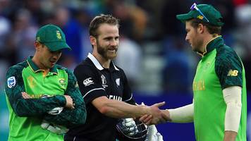 Cricket World Cup: Kane Williamson's majestic 106 sees New Zealand beat South Africa