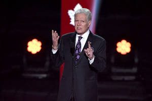 Watch 'Jeopardy!' Host Alex Trebek Get a Standing Ovation at the NHL Awards (Videos)