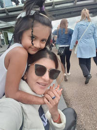 lakshmi manchu holidays with her daughter in london
