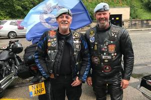 airdrie bikers protest in favour of soldier facing bloody sunday murder charges