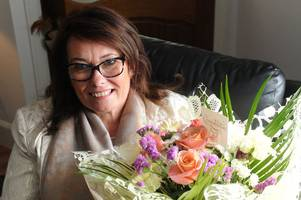 newmains mum is latest winner of say it with flowers competition