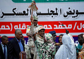 hundreds demonstrate for civilian rule in sudan's state capitals