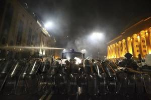 georgian parliamentary speaker forced to resign after massive protests in tbilisi
