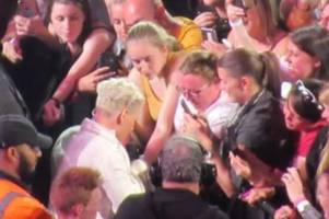 the awesome moment pink signed a fan's arm during cardiff concert and  the brilliant thing she did next