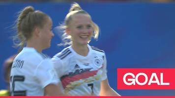 women's world cup 2019: ajibade's backpass puts schuller clean through to wrap up the win for germany
