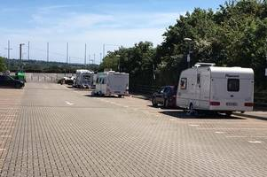 Travellers are evicted from Exeter Chiefs car park - but threaten to return