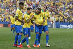 brazil crush peru 5-0 to reach copa america quarters