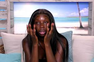 love island drama as yewande says she wants to leave villa over danny heartbreak