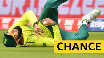 cricket world cup: out or not out? umpires reprieve fakhar after tahir's catch