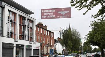 anger over 'soldier f' banner in mixed area of south belfast