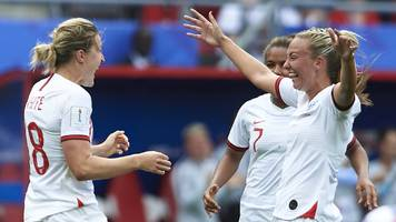 women's world cup: record-breaking peak of 6.9m watch england beat cameroon