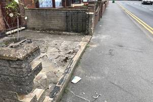 hit and run maniac brandishes knife after smashing cyclist through brick wall