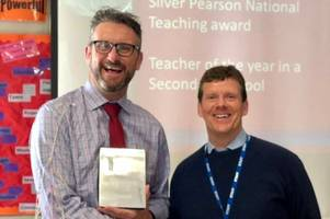 kings college guildford teacher takes another step towards teacher of the year award