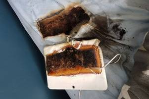 Staffordshire fire chiefs' warning after tablet burns through boy's bed as he slept