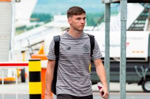 kieran tierney flies out with celtic as arsenal launch 'second' bid