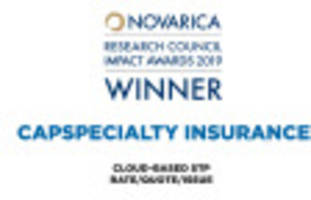 capspecialty cloud-based stp platform selected by 50 insurer cios for novarica research council impact award