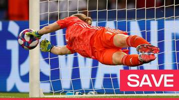 women's world cup 2019: hedvig lindahl saves a janine beckie penalty for sweden against canada