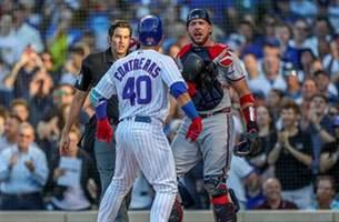 benches clear after contreras hits solo home run against braves