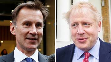 boris johnson and jeremy hunt divided over brexit plans
