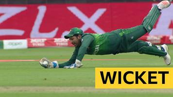 Cricket World Cup: Safaraz Ahmed catch removes Ross Taylor