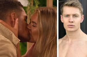love island's charlie frederick reacts to 'mate' danny kissing his ex arabella