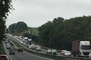 live updates after four vehicle crash and van fire on the a30