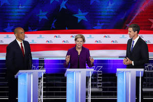 nbcu's democratic debate lands 15.3 million tv viewers, much lower than kickoff to 2016 cycle