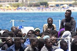 rescue ship with 42 migrants stuck off italy's lampedusa