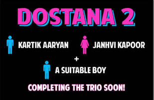 dostana 2: kartik aaryan and janhvi kapoor to star in the film along with a 'fresh face'